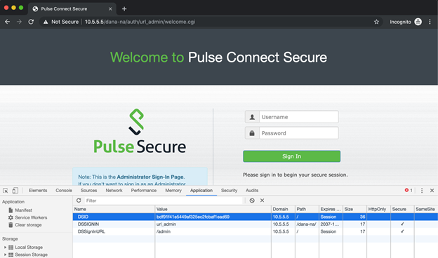 Image 1 of the pulse connect Secure portal